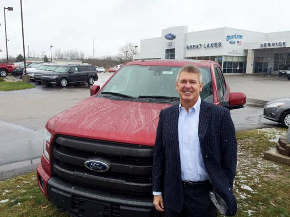 Chris Zeppendfeld with the new F-150.