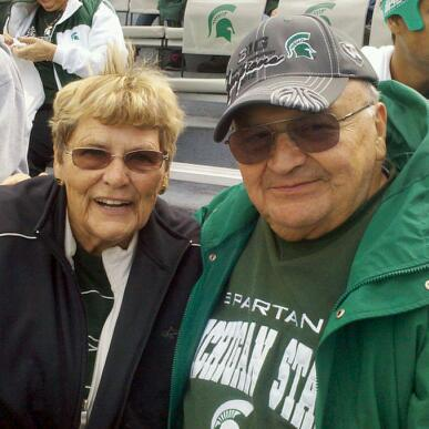 Shirley and Gene at Spartan Stadium