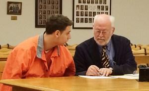 Jobbins-Ortiz with his attorney, Doug Stevenson.