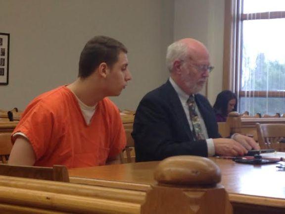 Alex Jobbins-Ortiz with his attorney, Doug Stevenson.
