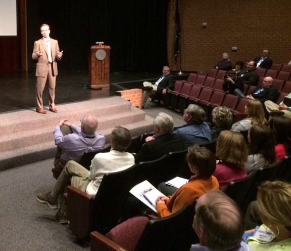 Lt. Gov. Calley speaks at WSCC.