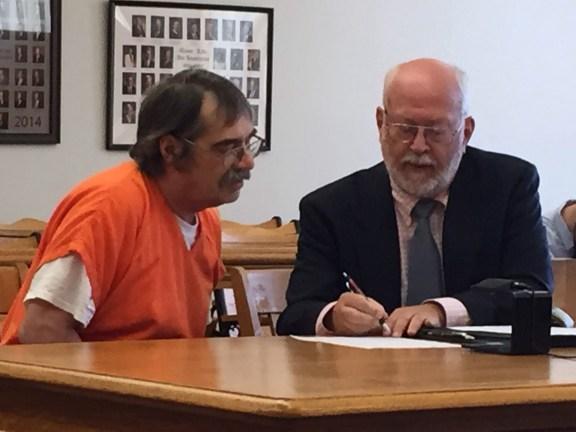 Gary Rial with his attorney, Douglas Stevenson.
