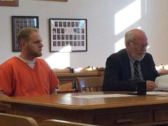 Kenneth Puple II with his attorney, Douglas Stevenson.