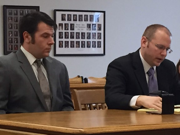 Jewett, at left, with his attorney, David Glancy.