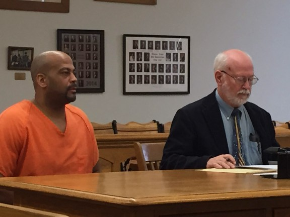 Eric Hoggs with his attorney, Douglas Stevenson.