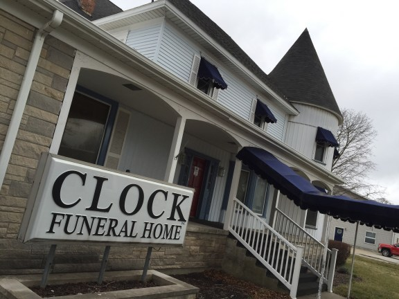 Clock Funeral Home of Ludington.