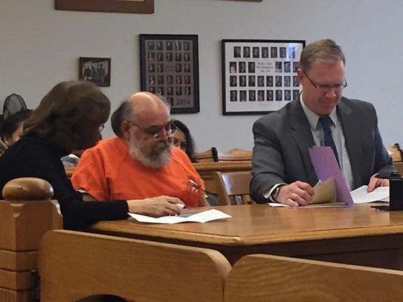 Arturo Lopez with his attorney, Ryan Glandville, and interpretor Viola Sotomayer.