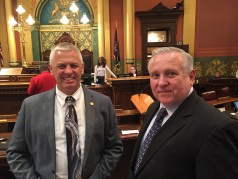 Rep. Jon Bumstead (R-100th District) and Rep. Ray Franz.
