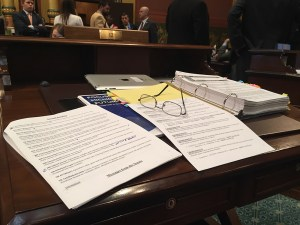 A view from Rep. Franz's desk on the House floor.