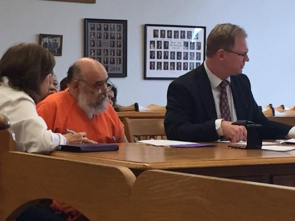 Arturo Lopez with his attorney, Ryan Glandville, and interpreter Viola Sotomayer.