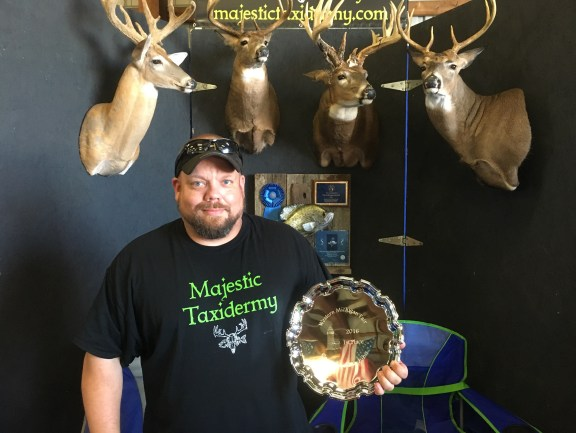 Travis Walle of Majestic Taxidermy of Scottville.