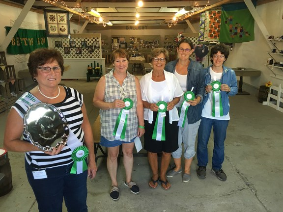 2016 Western Michigan Fair Homemaker of the Year: From left: Char Etchison, first place; Leann Saxton, second; Liz Dongkowski, third; Amanda Shoup, fifth; Stefany Grant, sixth. Missing: Donna Shoup, fourth.