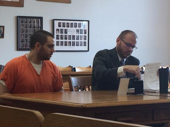 James Walkley with his attorney, David Glancy.