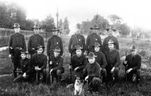 Port Huron troopers in 1917. - MSP photo
