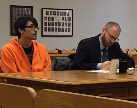 Battice with his attorney, David Glancy.