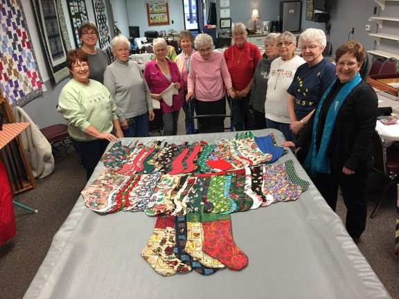 Members of the Country Quilters and Sandy's Quilting Friends