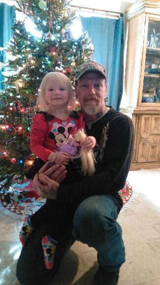 Mark Alan Saporita-Fargo with his daughter,  Hailey Hunter-Rose Fargo.