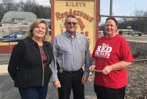 From left: Lisa Riley, Sheriff Cole, Barb Tyler.