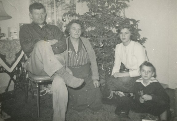 Jacob and Elizabeth VanderHaag along with two of their children, Alie and Fred, about 1955 or 1956 after they immigrated to the U.S. from the Netherlands.