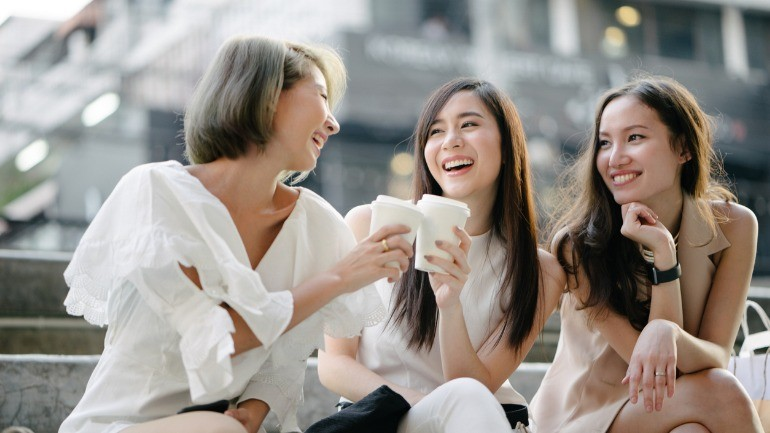 women talking long term disability over coffee