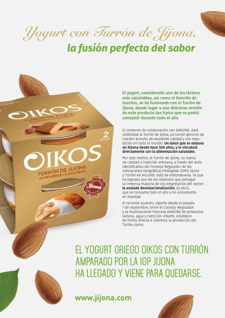 Yogurt con Turrón de Jijona, la fusión perfecta del sabor mas que salud (1)