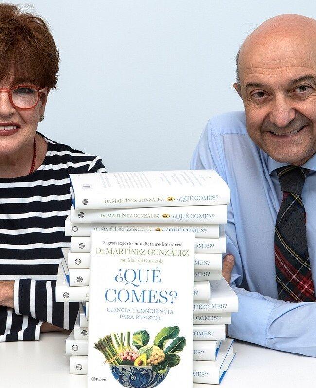 Dr. Miguel Ángel Martínez-González y la periodista Marisol Guisasola. ¿Qué comes?