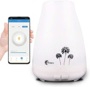 humidificadores y difusores de aceites esenciales con wifi smart