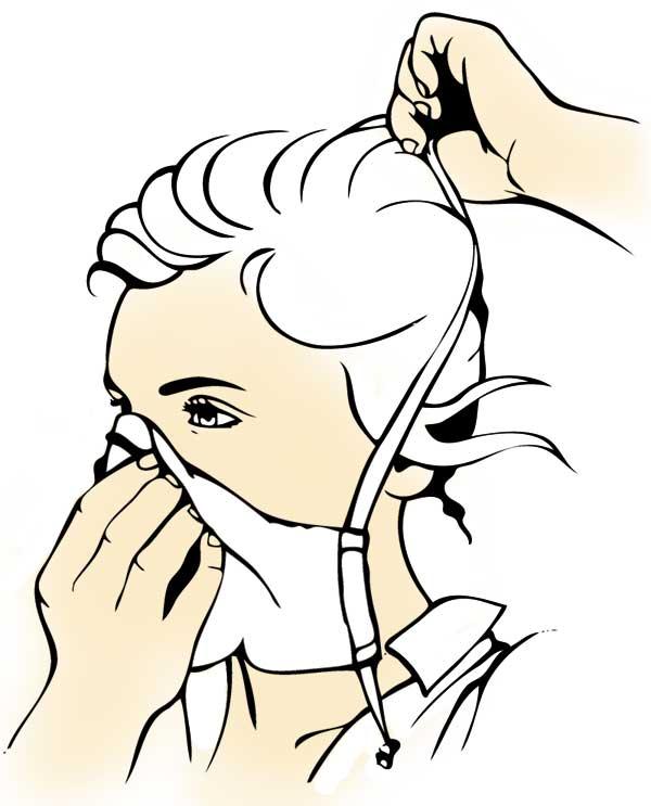 Bien mettre son masque barrière en tissu