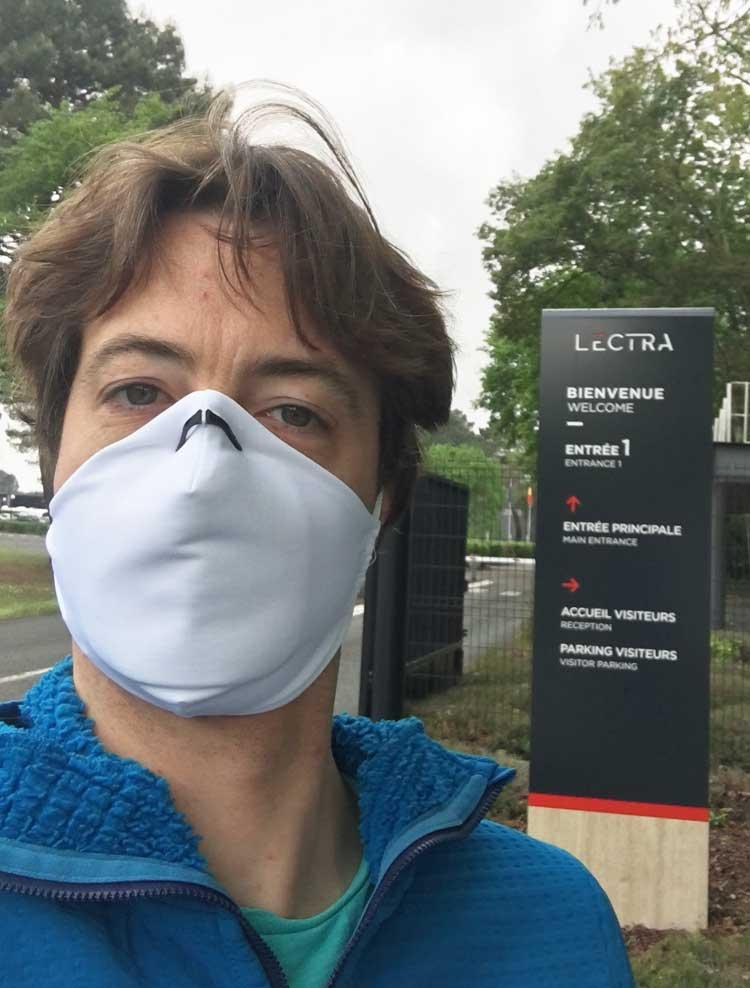 Retour a Lectra en 2020 pour découper des masques en tissu