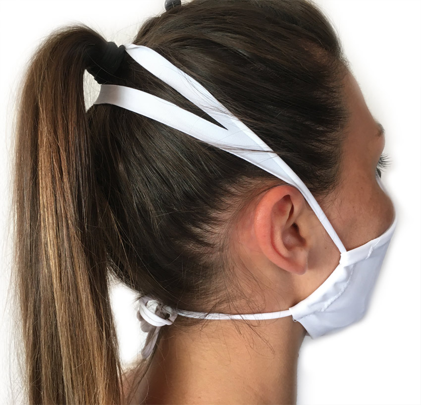 masque en tissu fabriqué en france et libérant les oreilles