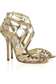 Sandalias doradas Jimmy Choo