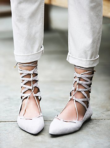 jeffrey campbell free people lace up flats