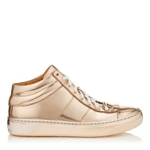 sneaker dorados jimmy choo