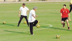تدريبات منتخب مصر قبل مباراة الجزائر