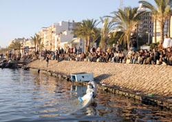 ضفة النهر امام منطقة حادث رشيد