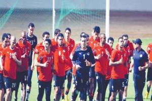 المنتخب المصري يستعد لـ مباراة مصر والكاميرون