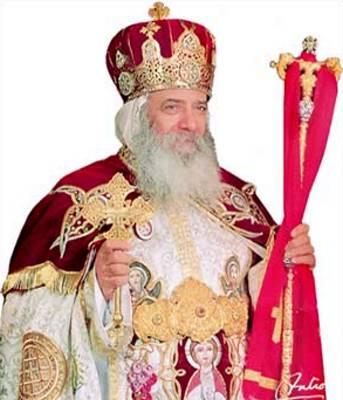 مبارك يهنئ البابا شنودة بـ عيد الميلاد المجيد