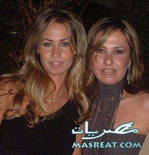 خديجة الجمال زوجة جمال مبارك مع والدتها