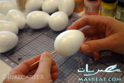 طريقة تلوين بيض شم النسيم بالصور