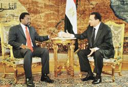 لقاء الرئيس مبارك مع زعماء دول حوض النيل من اجل حل ازمة المياه