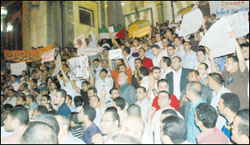 مظاهرات في القاهرة والمحافظات للتنديد بجريمة اسطول الحرية