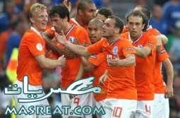 نتيجة مباراة هولندا و سلوفاكيا