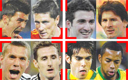 ثنائيات و نجوم كأس العالم 2010 لعب وفن و اهداف