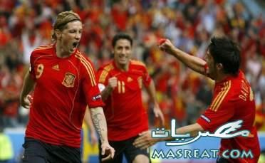 نتيجة مباراة اسبانيا و باراجواي