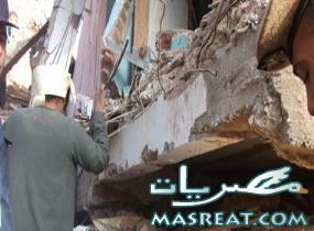 اخبار حادثة انهيار منزل كوم العرب مركز طما سوهاج