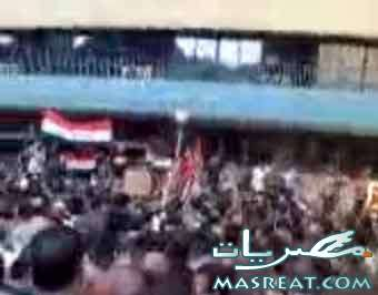 مظاهرات الاقباط اليوم امام ماسبيرو بسبب عصام شرف
