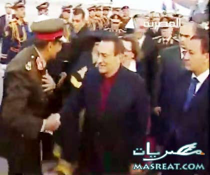 استقبال حافل للرئيس حسني مبارك بعد احدى شائعات وفاته