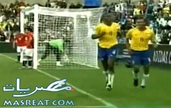 اهداف مباراة مصر والبرازيل