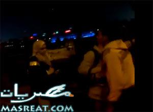 ضرب الناشطة نوارة نجم امام مبنى ماسبيرو اليوم فيديو يوتيوب