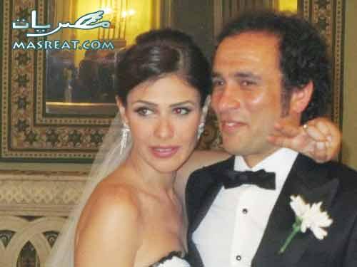 عمرو حمزاوي وبسمة بعد عقد القران
